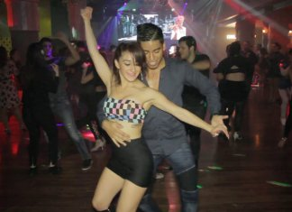 1minutesalsa Maxi & Nahir - Social sensual Bachata dance with Sin Ti - Dani J